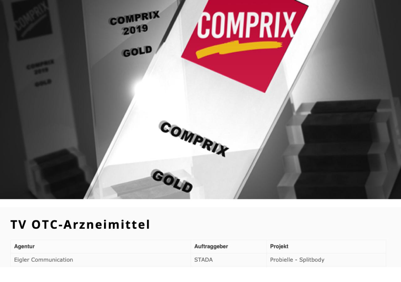 COMPRIX 2020 Gold Gewinner